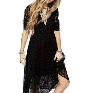 Mountain Laurel Lace Crochet Midi Dress